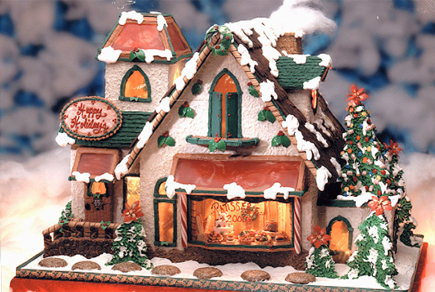 34 Amazing Christmas gingerbread houses on church cakes, church family house, church snow, church autumn, church candy, church cupcakes, church country gingerbread recipe,