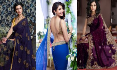 Collags Beautiful designer sarees 2017