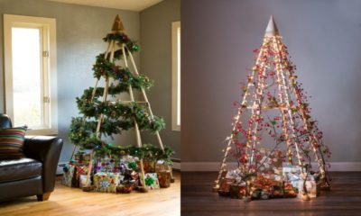 47 DIY Modern Wooden Christmas Trees