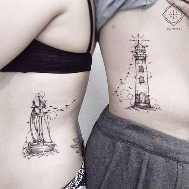 Awesome couple tattoos inspiration 13