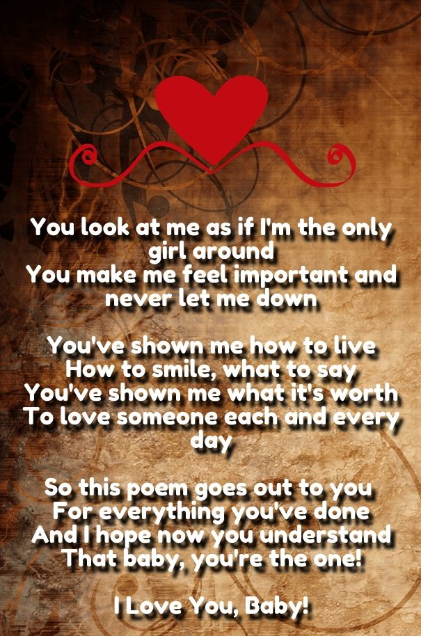 Romantic cute love poems collection 6