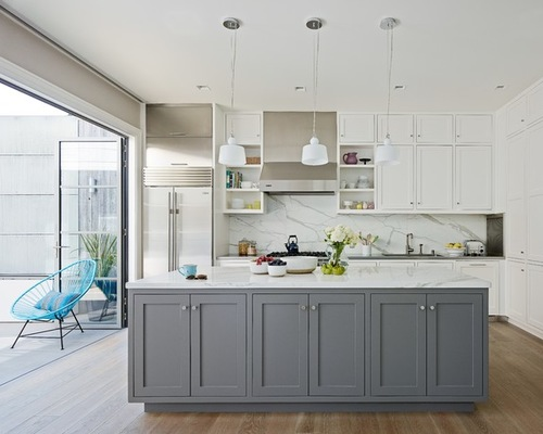 Best White Kitchen with Gray 1