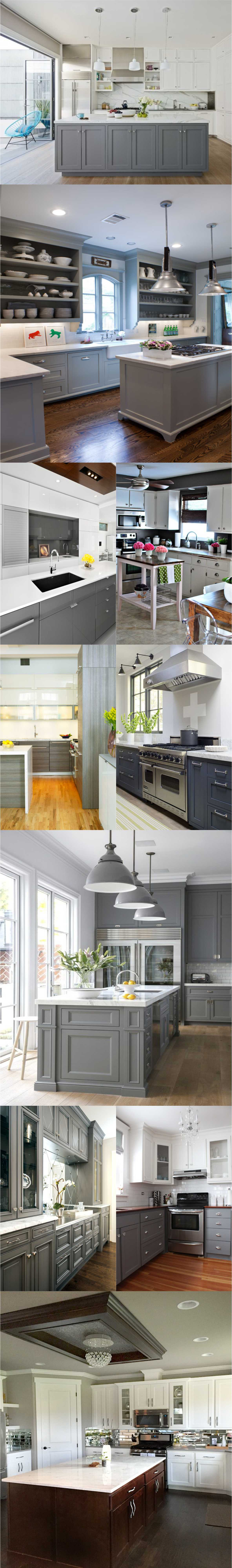 Best White Kitchen with Gray 2018