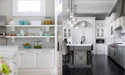 Best White Kitchen with Gray Feture