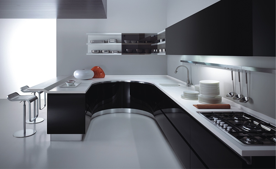 Black & White Kitchen Cabinets 2018