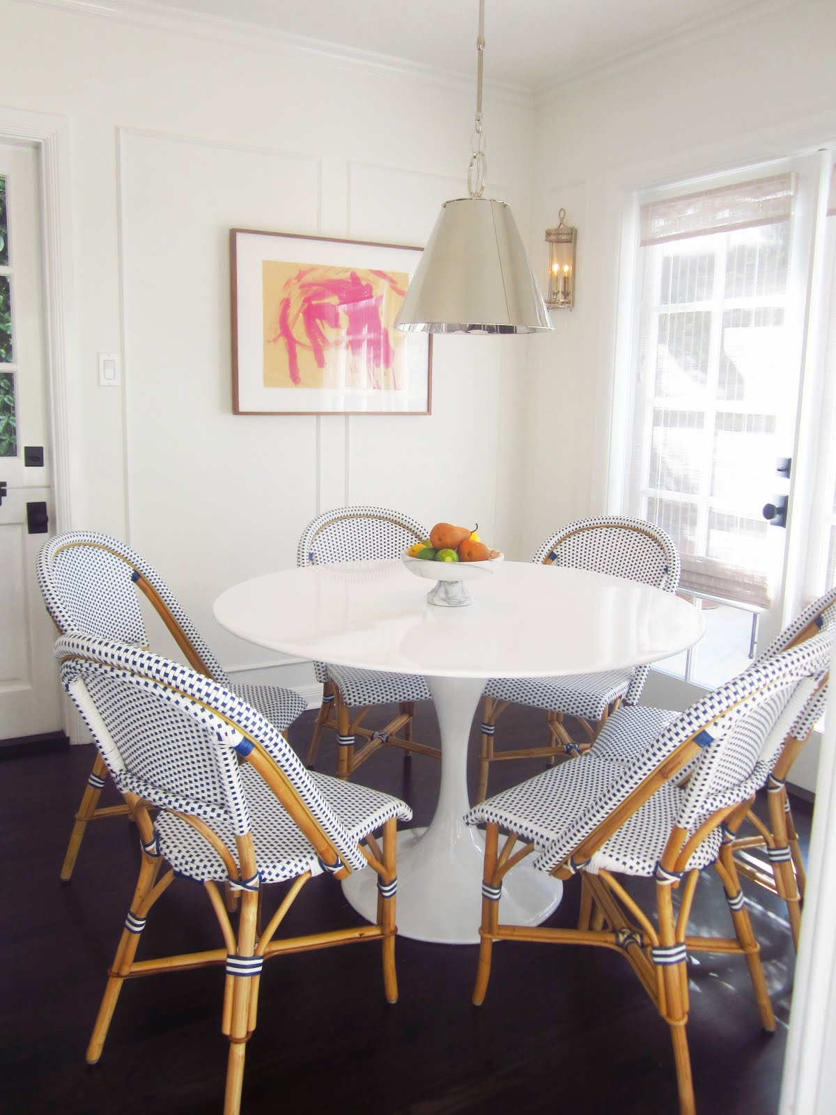 29 White Kitchen With Beautiful Table
