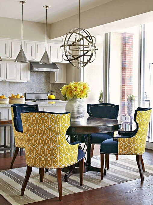 Dining Room Chairs with Yellow