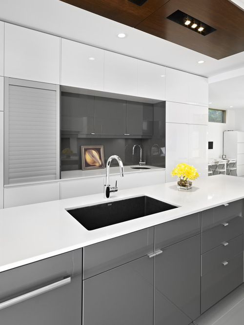Grey and White IKEA Kitchen Cabinets