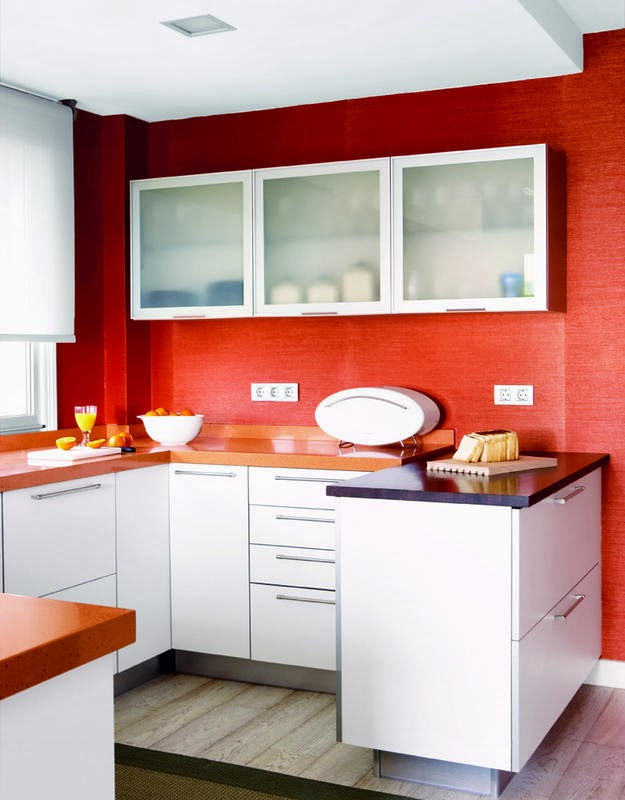 Kitchen with Red Walls