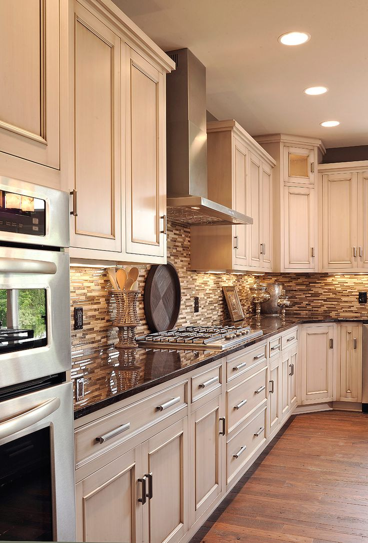 Light Oak Cabinets with Dark Countertops