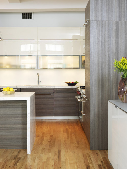Modern Grey Wood Kitchen Cabinets