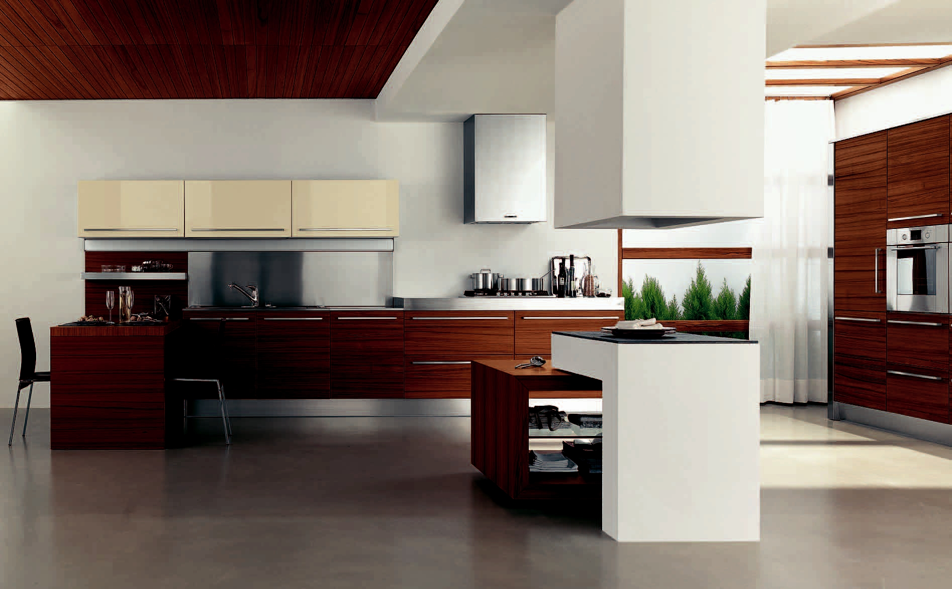 Kitchen Island With Cabinet For Technology