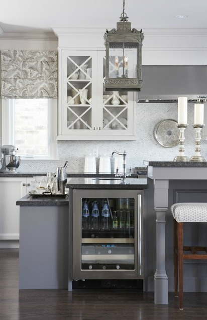 Sarah Richardson Gray and White Kitchen