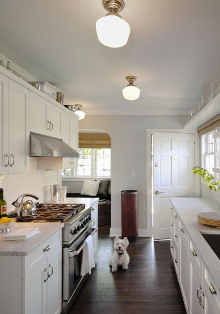 Small Galley Kitchen White Cabinets