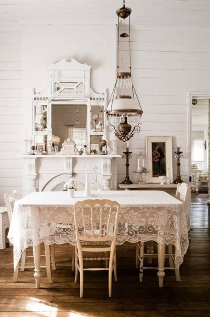 White Country Cottage Dining Rooms