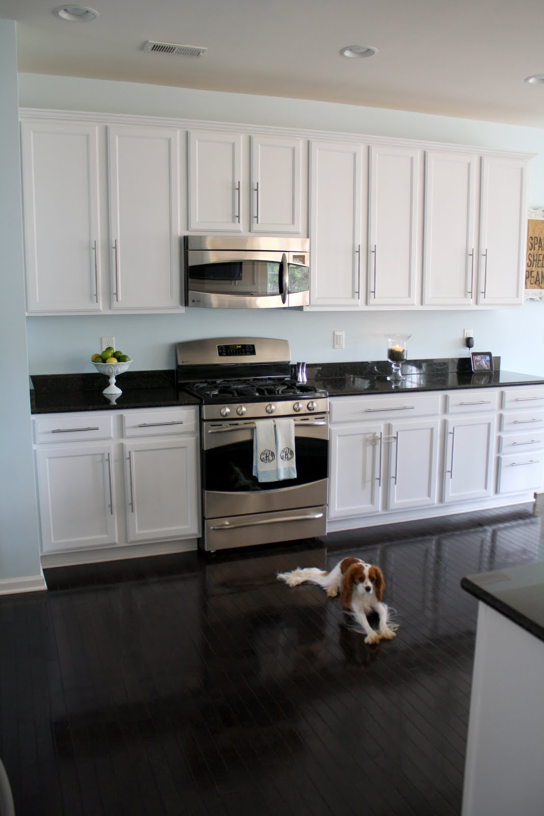 White Kitchen Cabinets With Black Countertops Paint 1
