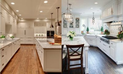 White Kitchen Granite Feture