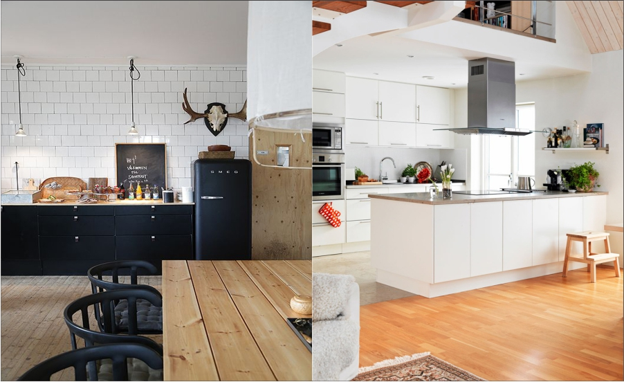 White kitchen scandinavian Feture