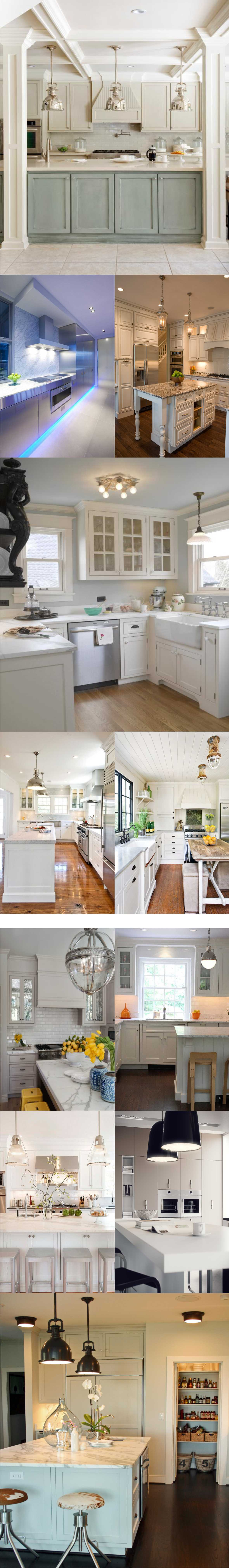 White kitchen with lighting 2018