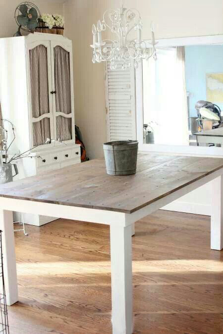 White with Wood Top Dining Table Legs