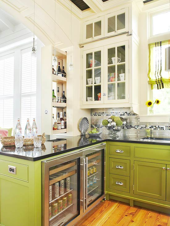 Avocado Green Kitchen Cabinets