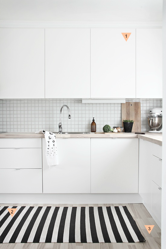 Black And White Kitchen Rugs