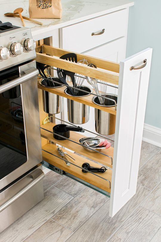 Kitchen Cabinet Organizers Pull Out Utensil