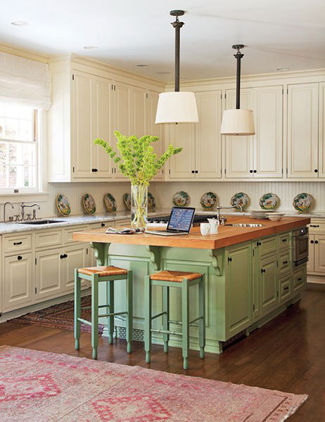 Kitchen Island Different Color