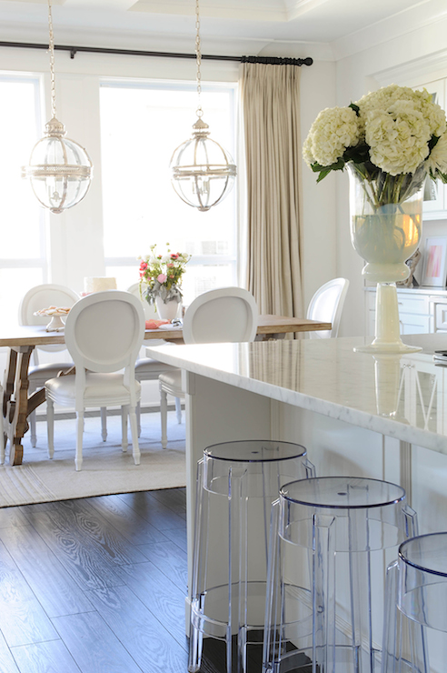 Lucite Dining Table and Chairs
