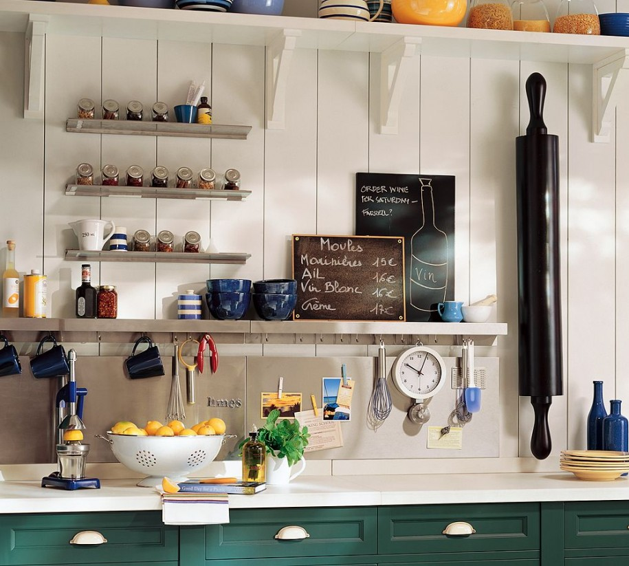 White Countertop Plank Wall Smart Kitchen Small Appliance Storage Ideas