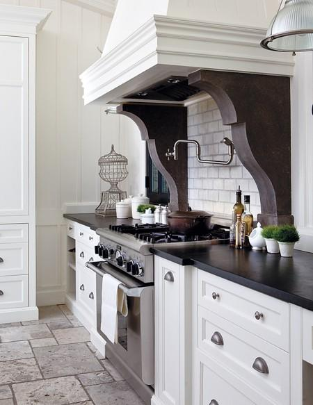 White Kitchen with Corbels