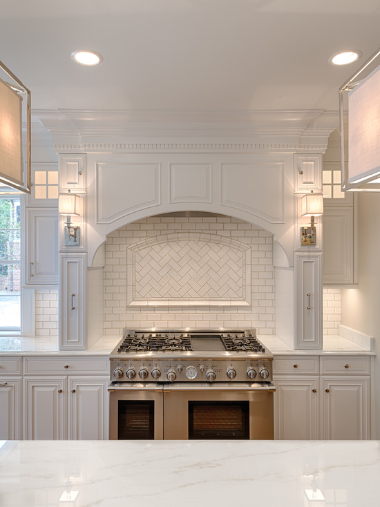 White Kitchen with Oven Hood