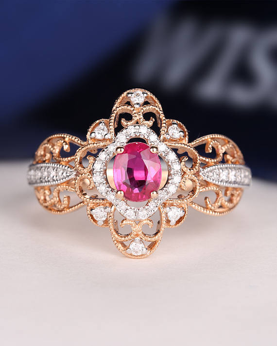 Beautiful Ruby Rings For The Ring Ceremony 44