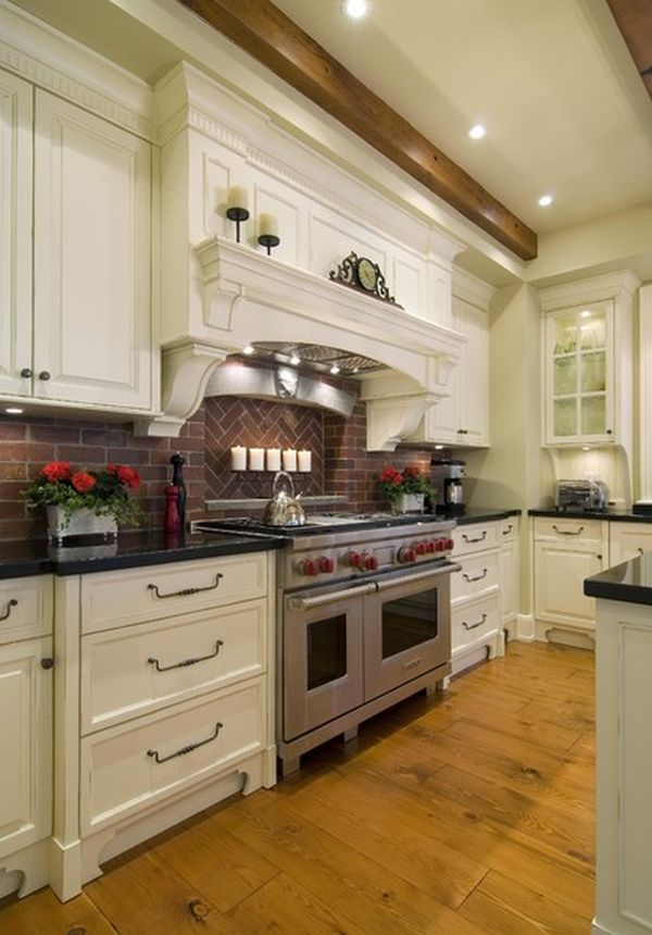 Kitchen Brick Backsplashes For Warm And Inviting Cooking Areas